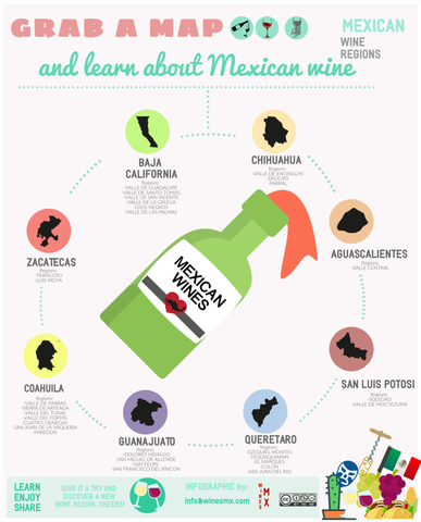 mexico wine regions map