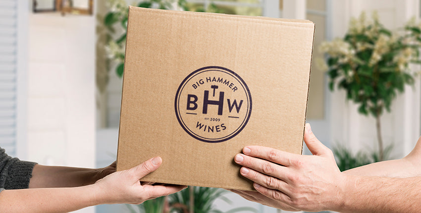 free wine delivery big hammer wines