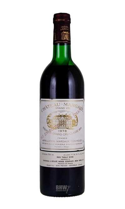 bighammerwines.com Red 1978 Chateau Margaux 1st Classified Growth