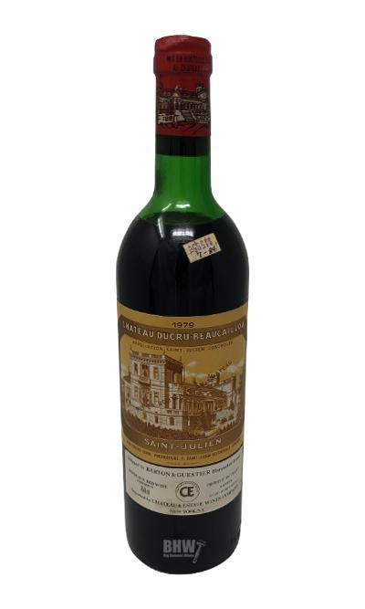 1979 Chateau Ducru Beaucaillou Saint Julien 2nd Classified Growth