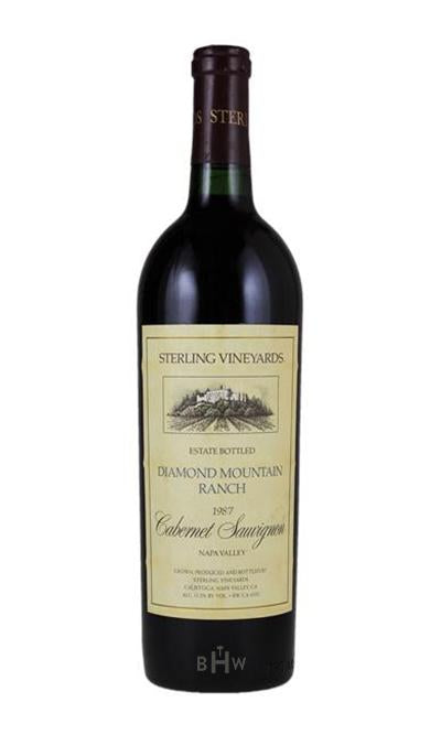bighammerwines.com Red 1987 Sterling Vineyards Cabernet Sauvignon Diamond Mountain Ranch Napa Valley