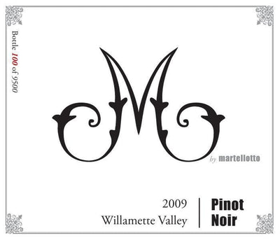 M by Martellotto Pinot Noir 2009 Thistle Vineyard - bighammerwines.com