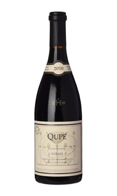 bighammerwines.com Red 2010 Qupe Syrah Bien Nacido Vineyard Hillside Estate Santa Barbara