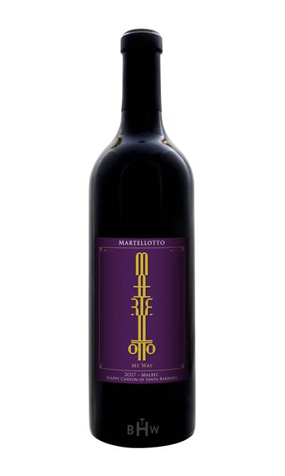 "2017 Martellotto ""My Way"" Malbec Happy Canyon of Santa Barbara - bighammerwines.com"