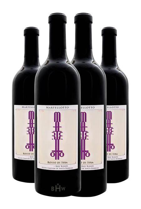 "Martellotto Red 2017 Martellotto ""Rosso di Sera"" Red Blend FOUR PACK Happy Canyon of Santa Barbara"