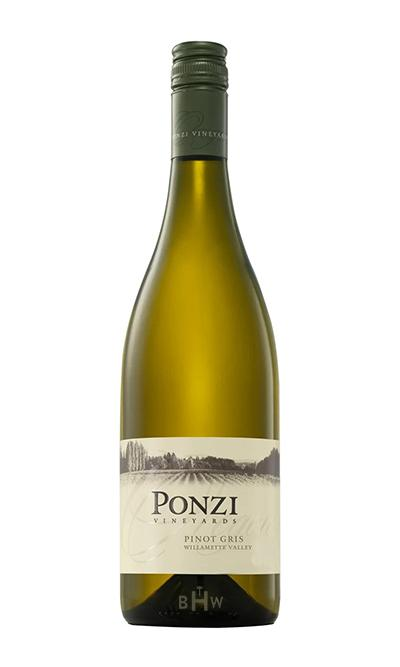 2017 Ponzi Vineyards Pinot Gris Willamette Valley - bighammerwines.com
