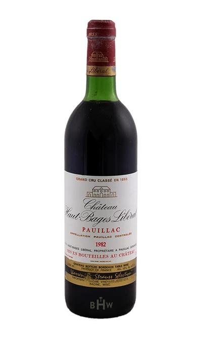 1982 Chateau Haut Bages Liberal - bighammerwines.com