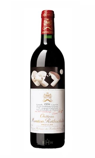 bighammerwines.com Red 1986 Chateau Mouton Rothschild 100 WA