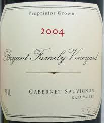 bighammerwines.com Red 2004 Bryant Family Cabernet Napa Valley 95-97 WA