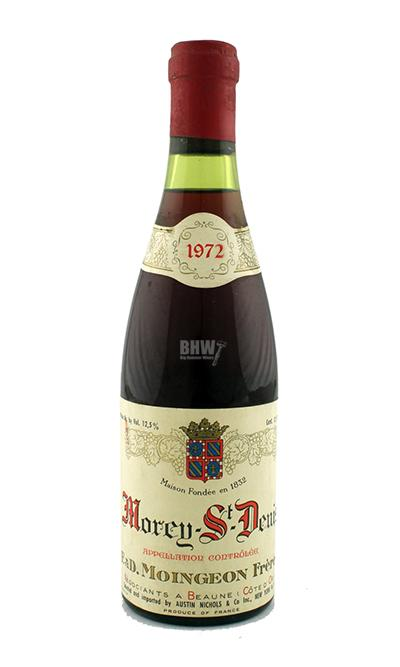 bighammerwines.com Red 1972 E&D Moingeon Freres Chambolle-Musigny