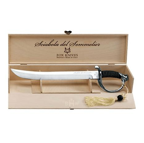 Sciabola del Sommelier Plated Champagne Sword Saber by Fox Knives USA