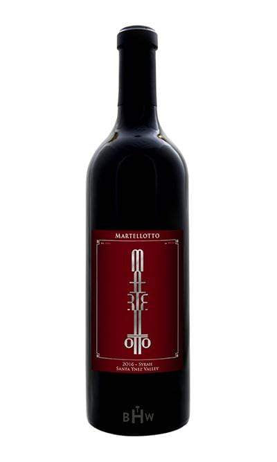 Martellotto Red 2016 Martellotto Syrah Santa Ynez Valley