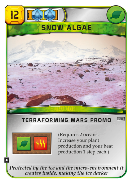 TM Snow algae promo card