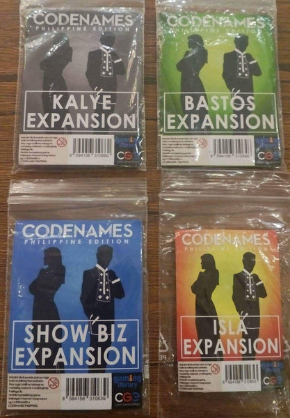 Codenames Expansion Packs -- Set of Four