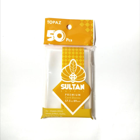 Sultan Supply Premium Card Sleeves: 57.5 x 89 Topaz