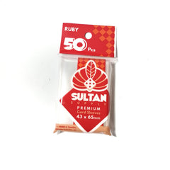 Sultan Supply Premium Card Sleeves: 43 x 65 Ruby