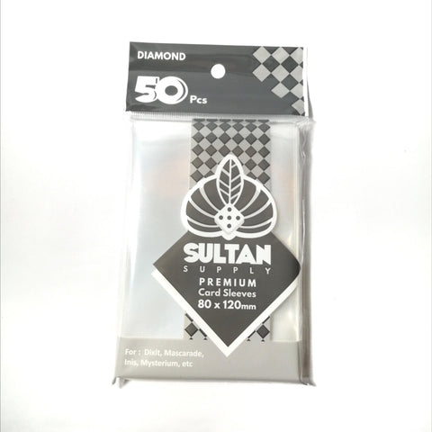 Sultan Supply Premium Card Sleeves: 80 x 120 Diamond