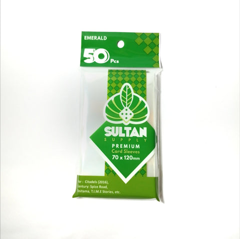 Sultan Supply Premium Card Sleeves: 70 x 120 Tarot Emerald