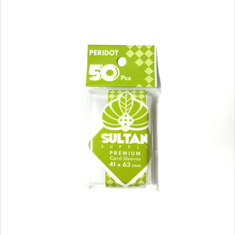 Sultan Supply Premium Card Sleeves: 41 x 63 Mini US Peridot