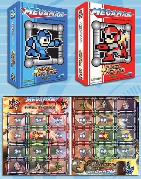 Pixel Tactics: Mega Man Blue AND Proto Man Red with Playmat (KICKSTARTER BUNDLE)
