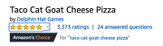 Taco Cat Goat Cheese Pizza - Philippine Edition