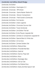 Zombicide 2nd Edition Retail Pledge