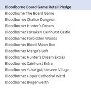 Bloodborne Board Game Retail Pledge