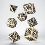 QWorkshop Dwarven Beige and Black Dice Set