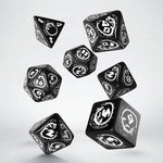 QWorkshop Black and White Dragons Dice