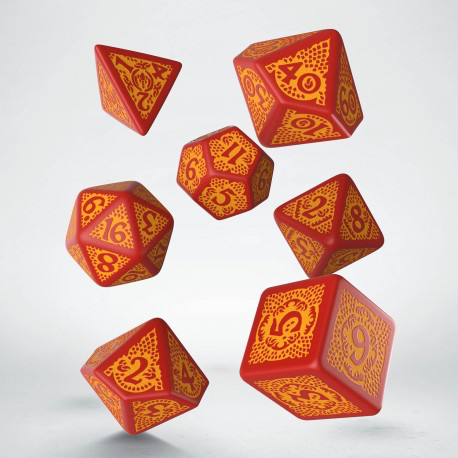 Dragon Slayer Red & Orange Dice Set