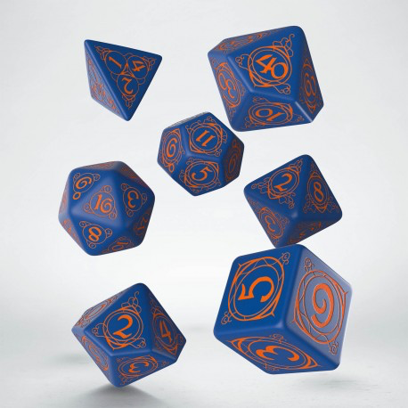 Wizard Dark Blue & Orange Dice Set