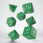 Q-Workshop Elvish Green and White Dice Set