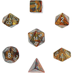 Chessex: Lustrous Gold/silver 7-Die Set