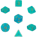 Chessex : Borealis Teal/gold 7-Die Set