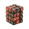 Chessex: Gemini 12mm d6 Black-Red gold Dice Block