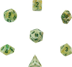 Chessex: Marble Green/dark green 7-Die Set