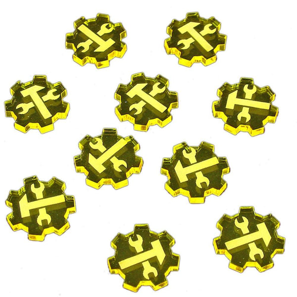 Resource Tokens (10) - Transparent Yellow