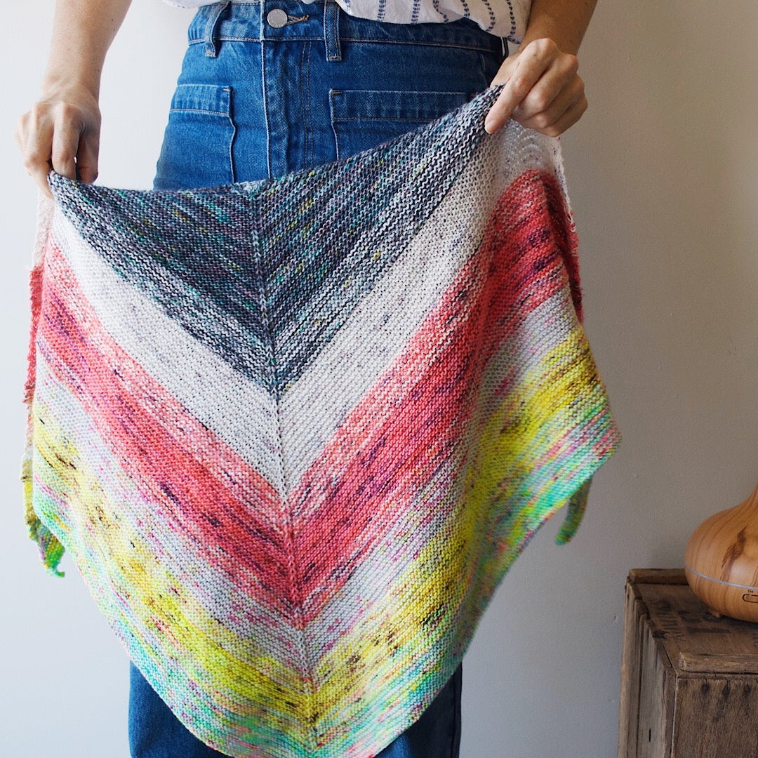 The Colour Melt Shawl