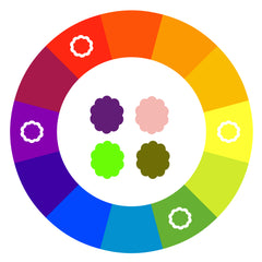 Tetradic Colour Combinations Are Also Known As Double Complementary Because You Using Two Pairs Of Colours The First Picture Shows A
