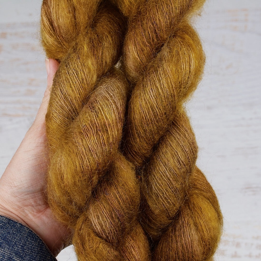 Glazed Pecan- Mohair Silk Lace