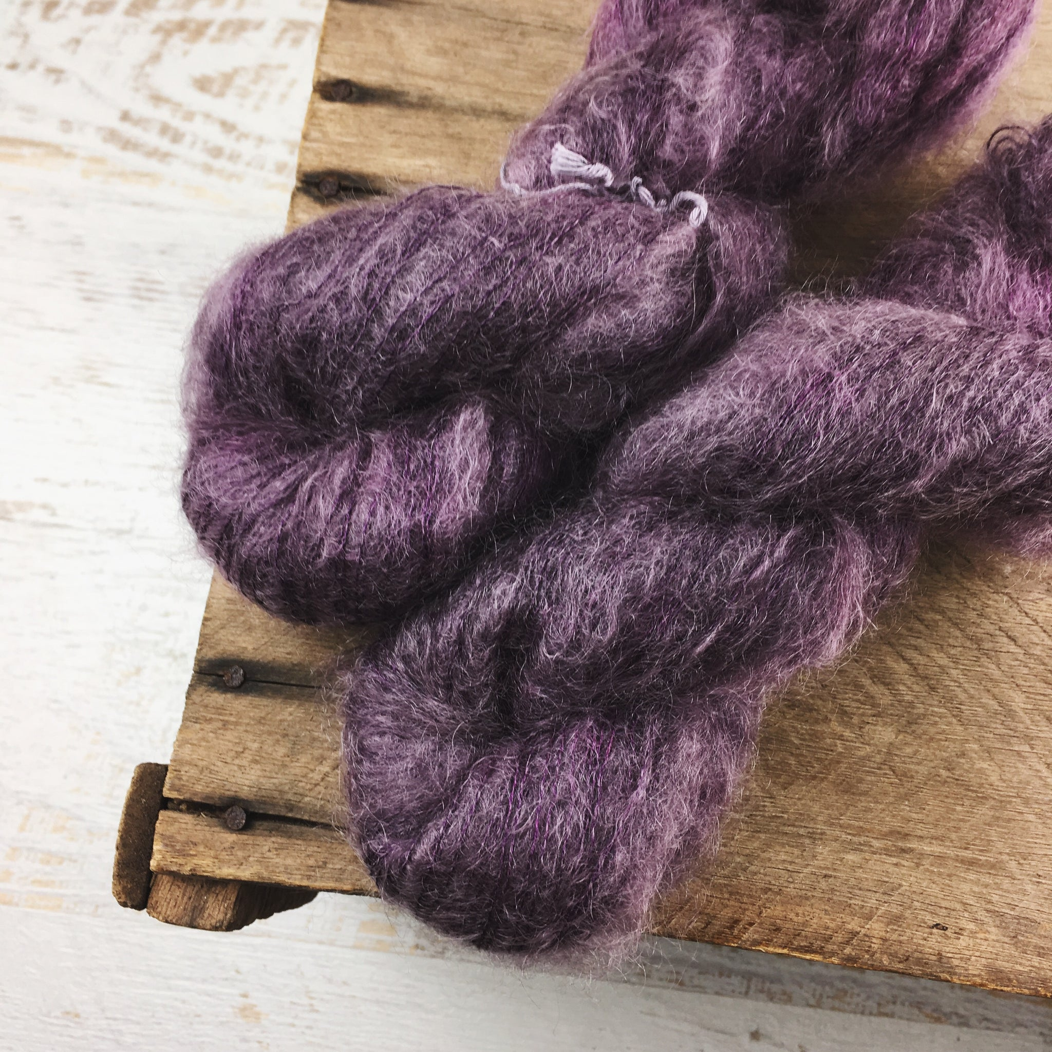 Burnt Cherry - Mohair Silk Lace