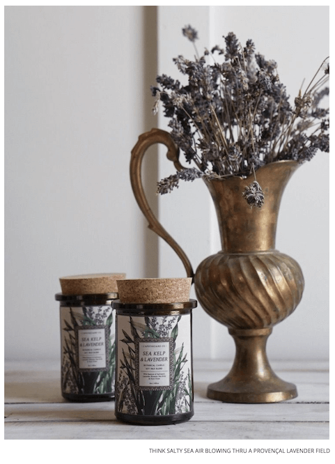 sea kelp and lavender candle