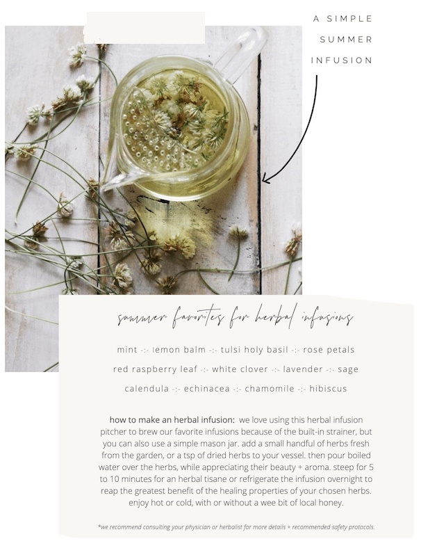 simple summer herbal infusions