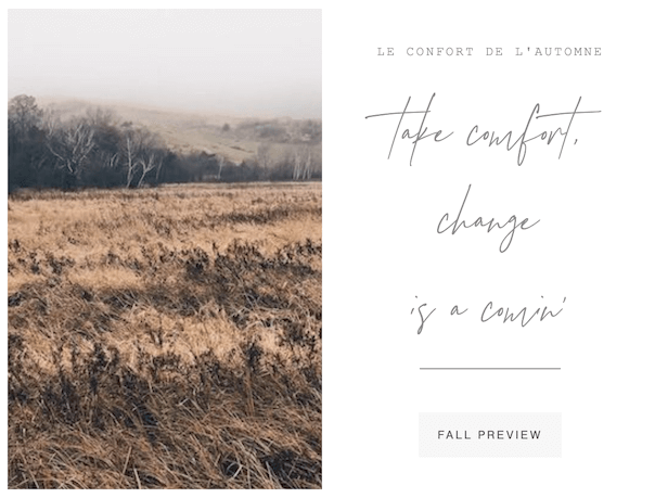 take comfort change is a comin | a cultiverre fall preview