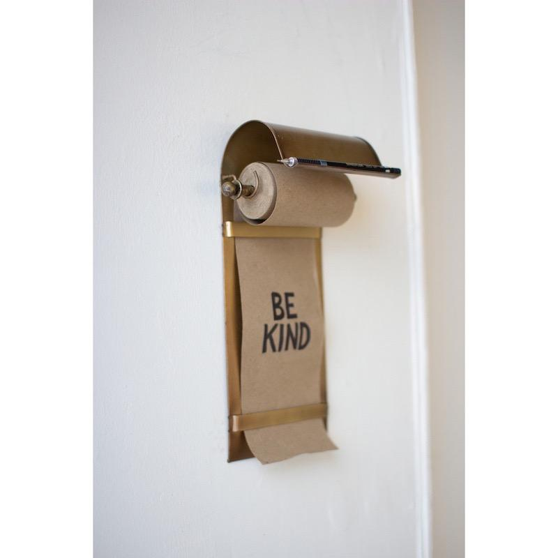 Antique Brass Kraft Paper Dispenser Partner Artisans