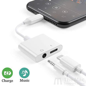 Lightning Headphone and 3.5 mm AUX Splitter/Adapter-The Mac Support Store