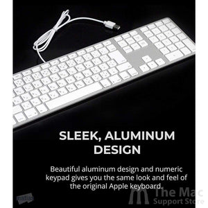 Matias Wired Aluminum Keyboard for Mac (Silver)-The Mac Support Store