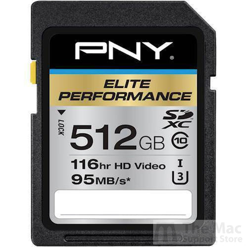 PNY - Elite Performance 512GB SDXC UHS-I Memory Card-The Mac Support Store