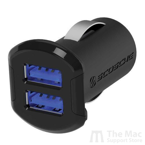 Scosche reVOLT 12W + 12W Dual USB Car Charger for iPod, iPhone and iPad (12 Watts x 2 Ports)-The Mac Support Store
