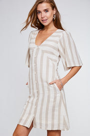 Striped Button Down Dress